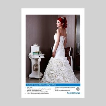 """Innova IFA 36 1118x15m FibaPrint Canvas Ultra Gloss 380gsm- 44"""" Roll"""