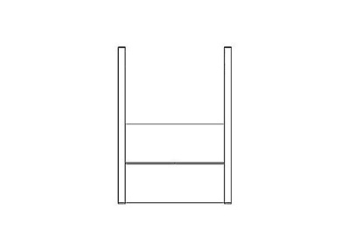 SMART Wall Stand Kit for Single Integrated Flat Panel Displays
