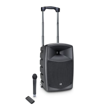LD Systems ROADBUDDY 10 Battery Powered Bluetooth Speaker with Mixer and Wireless Microphone
