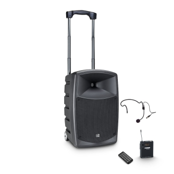 LD Systems ROADBUDDY 10 HS  Bluetooth Speaker with Mixer, Bodypack and Headset