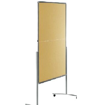 Legamaster 7-205100 Premium Folding Mobile Moderation Board 150x120cm Beige / Felt