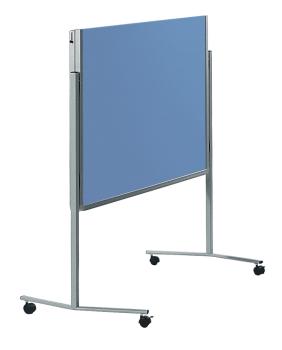 Legamaster 7-205200 Premium Folding Mobile Moderation Board 150x120cm Blue-Grey / Felt