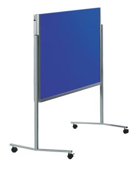 Legamaster 7-205400 Premium Folding Mobile Moderation Board 150x120cm Navy Blue / Felt