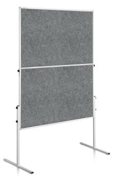 Legamaster 7-207000 Economy Workshop Board 150x120cm Grey / Felt Covering Foldable