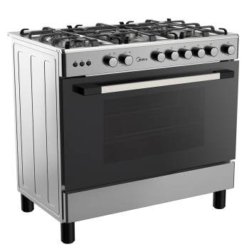 Midea LME95030FFD 90cm Gas Cooker With Gas Oven & Grill