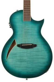 ESP LTL6FMAQMB LTD TL-6 Thinline Acoustic Aqua Marine Burst Finish Guitar