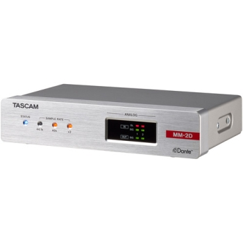 Tascam MM-2D-E 2-Channel Mic/Line Input/Output Dante Converter with Built-In DSP Mixer