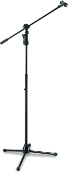 Hercules MS632B W-2 in 1 Boom & Mic Clip Grip Tripod Microphone Stand