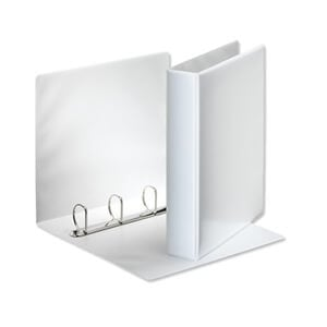 "Ideal 1/2"" 3 Ring Presentation Binder White A4 Size - Set of 10"