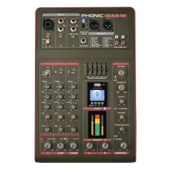 Phonic CELEUS100 Analog USB With Recorder & Bluetooth Mixer