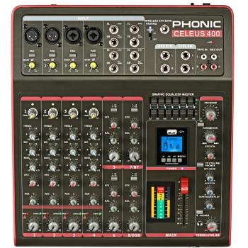 Phonic CELEUS400 Recorder With USB & Bluetooth Analog Mixer