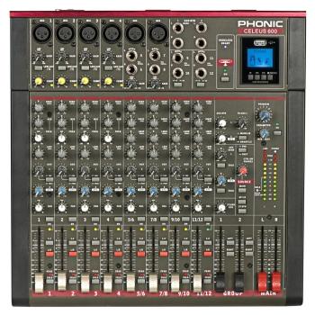 Phonic CELEUS600 Recorder and Bluetooth Analog Mixer