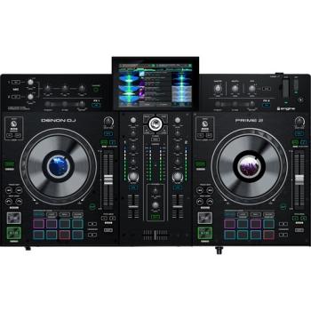 """Denon DJ Prime 2 Standalone 2-Deck Smart DJ Console with 7"""" Touchscreen"""