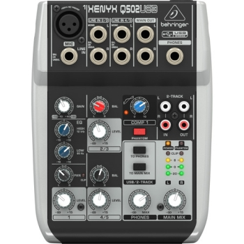 Behringer XENYX Q502USB 5-Channel USB Mixer