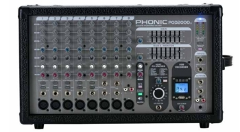 Phonic Powerpod2000R USB Recorder 2000W 10-Channel Powered Mixer