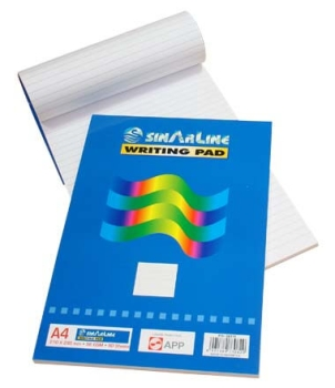 Sinar Writing Pad A4 Side Spiral 70SHT - Set of 10