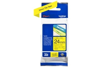 Genuine Brother TZe-651 Labelling Tape Cassette – Black on Yellow, 24mm wide
