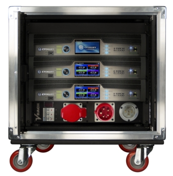 Crown  VRack-4x3500HD Enclosure W/PWR Dostro Amplifier Rack