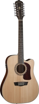 Washburn WD10S12 Dreadnought Cutaway-Electric 12-string Acoustic Guitar