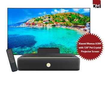"Xiaomi Wemax A300 4K Laser Projector with 120"" Pet Crystal Fixed Frame Projector Screen"
