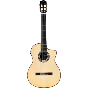 Cordoba GK Pro Negra Luthier Series Hybrid Classical-Electric Guitar