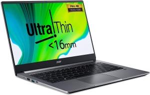 Acer Swift 3 SF314-NX.HJFEM.002 Laptop (Core I5  1035G1 1.0 GHZ, 8GB, 512SSD Win10) English-Arabic