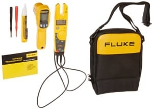 Fluke T5-600/62MAX+/1AC II IR Thermometer, Electrical Tester and Voltage Detector Kit