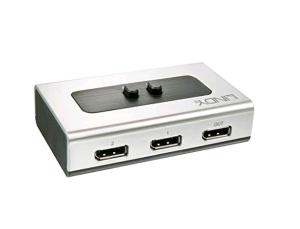 LINDY 2 Port 4K - Audio & Video DisplayPort Switch