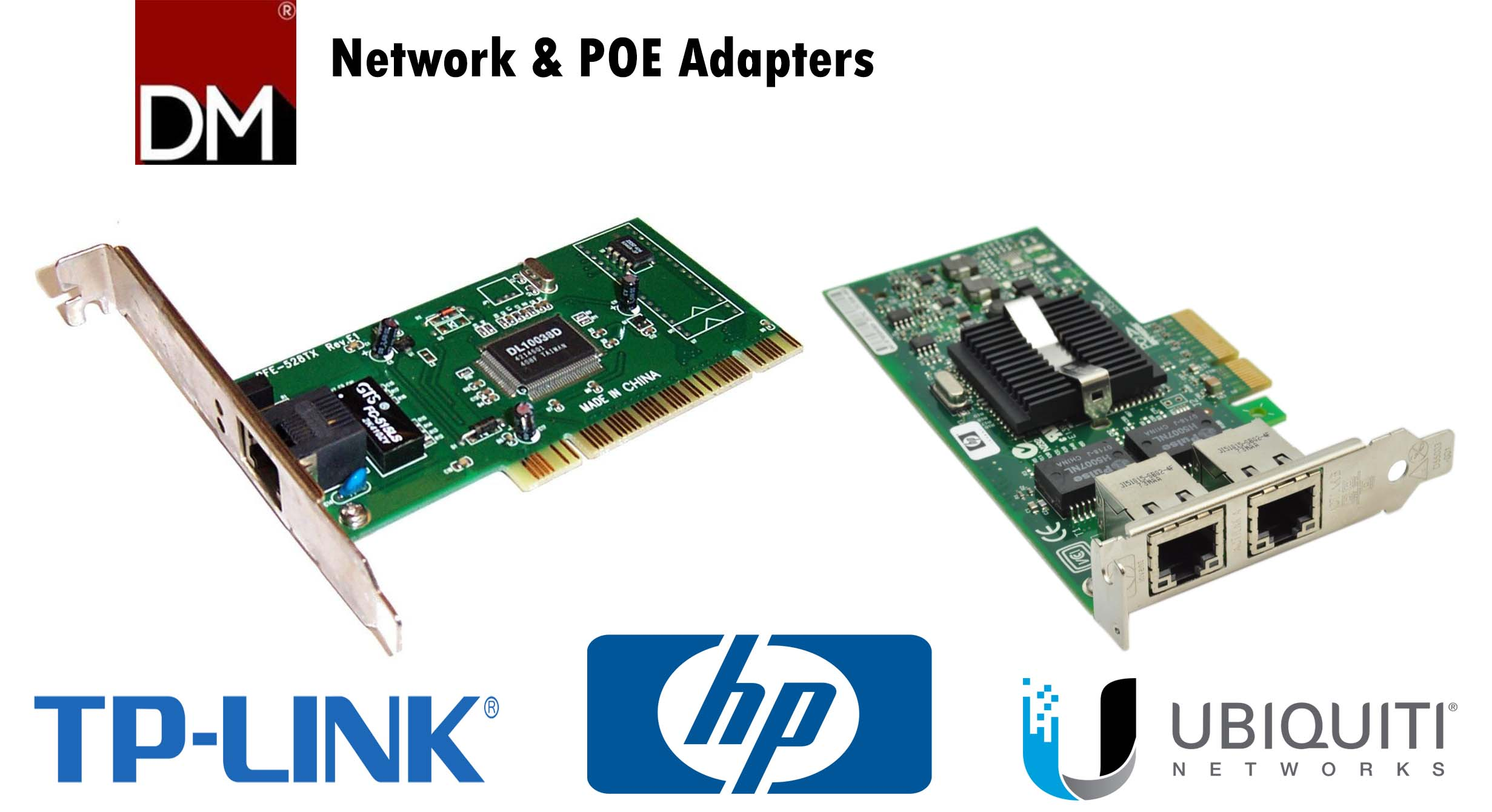 Network and POE adapter Landing page